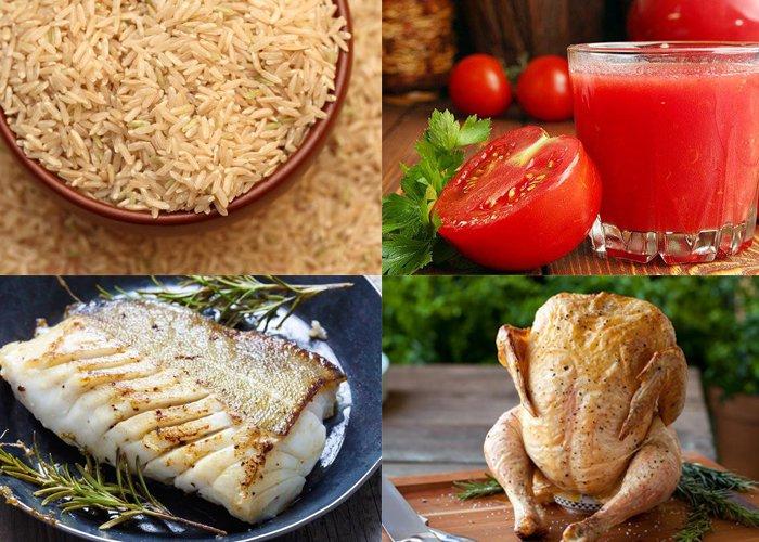 thực đơn giảm cân 7 ngày với cơm cà chua và thịt gà