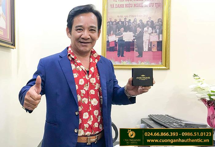 NSND Quang Tèo sử dụng sản phẩm Amstrong Cường Anh